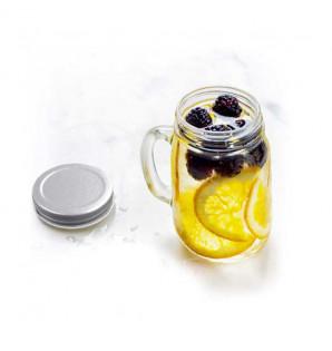 Mini mug en verre avec ciyvercle