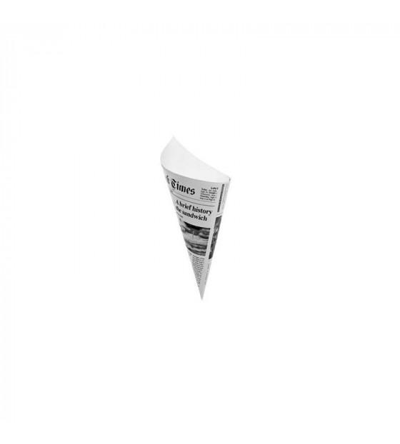 Petit cône carton impression journal 130