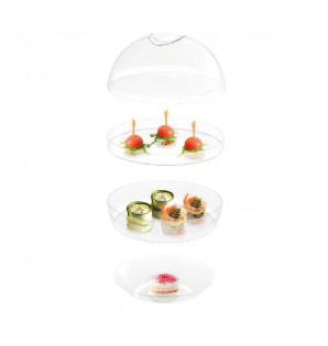 Sphère 3 assiettes empilables à emporter