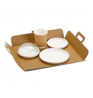 PLATEAU BOX XL KRAFT BRUN