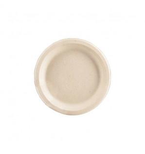 Assiette dessert ronde Fibra bagasse naturel