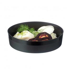 Assiette ronde noire Bodeglass micro-ondable 70 cl
