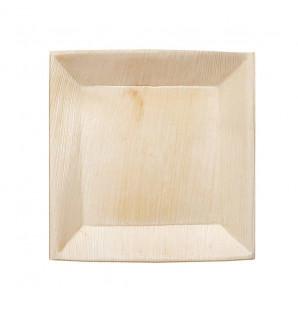 Assiette carrée Palma en palmier 180
