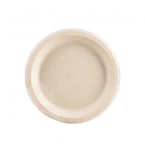 Grande assiette ronde Fibra bagasse naturel