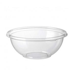 Saladier transparent rond avec couvercle 1 L