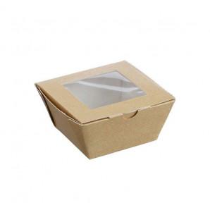 Barquette carton kraft fenêtre 50 cl