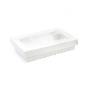 Barquette carton Natural blanche 1.3 litres