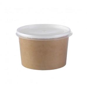 Pot à soupe kraft 47 cl avec couvercle