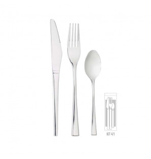 KIT COUVERTS INOX LUX 4/1