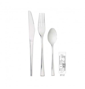 KIT COUVERTS INOX LUX 6/1