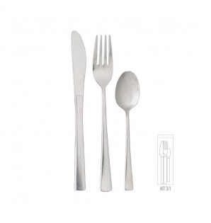 KIT COUVERTS INOX BISTRO 3/1
