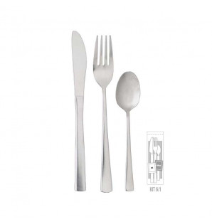 KIT COUVERTS INOX BISTRO 6/1