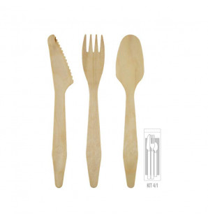 KIT COUVERTS MADERA LUX 4/1