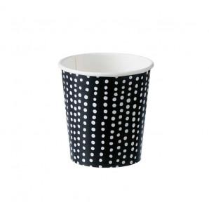 Gobelet en carton/PE noir et blanc 10 cl