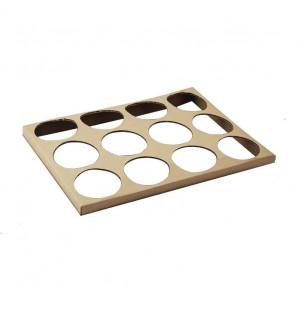 Cale en carton pour 12 verrines Ø76 mm