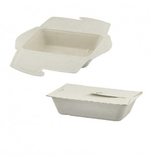 MEAL BOX BAGASSE 100 CL