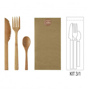 KIT KRAFT COUVERTS BAMBOU...