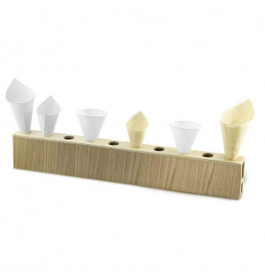 Présentoir bois pour 10 cônes fait main