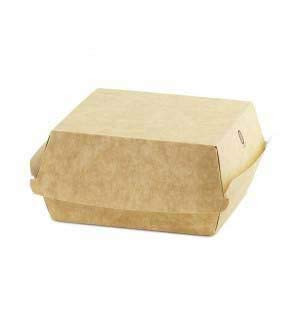 BURGER BOX KRAFT 120x120x70