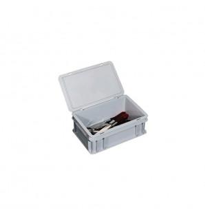 Box à couverts, livré avec couvercle clipsable sur charnières