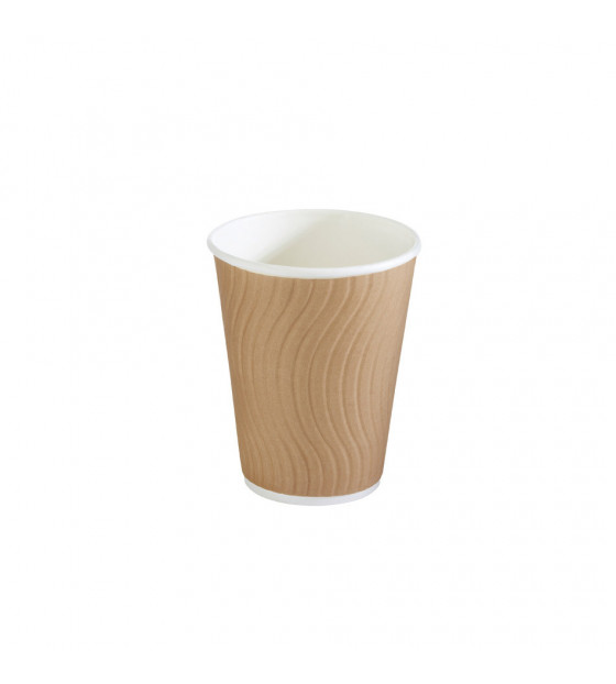 Gobelet en carton simple paroi d'une contenance de 20 / 28 cl