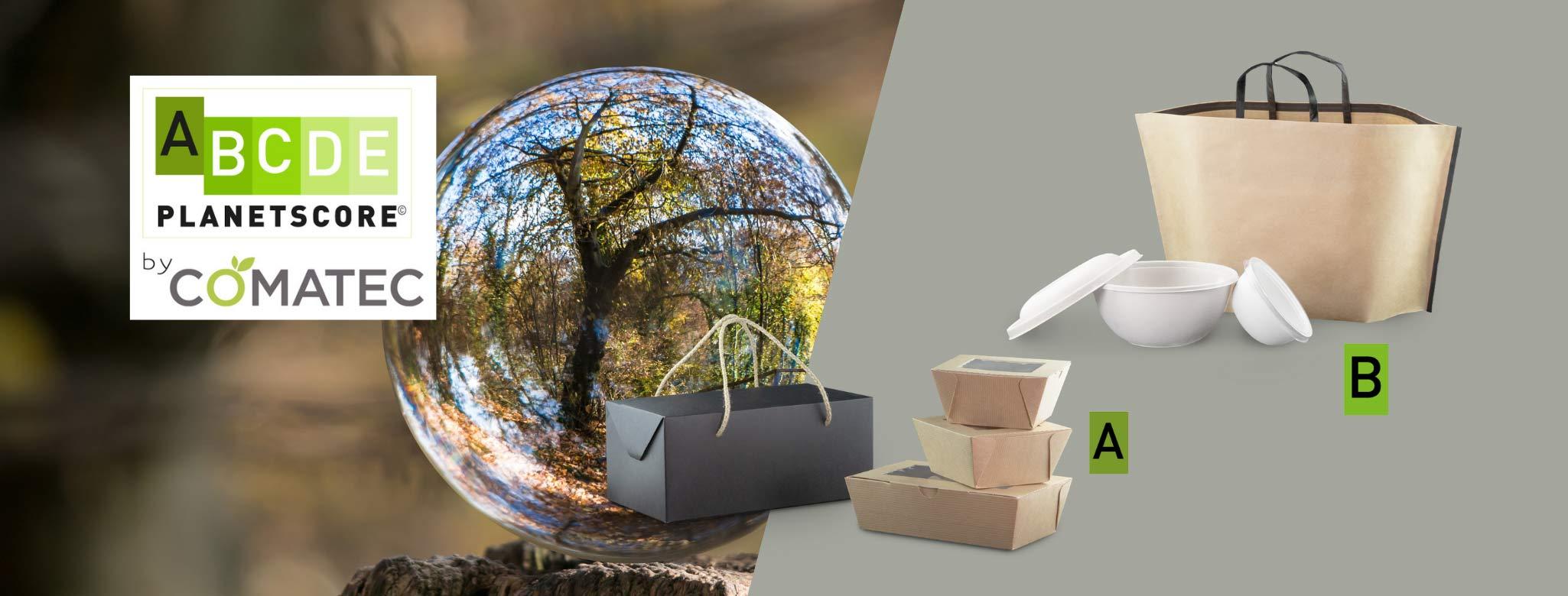 Le PlanetScore un outil de notation de l'impact environnemental des packagings Comatec