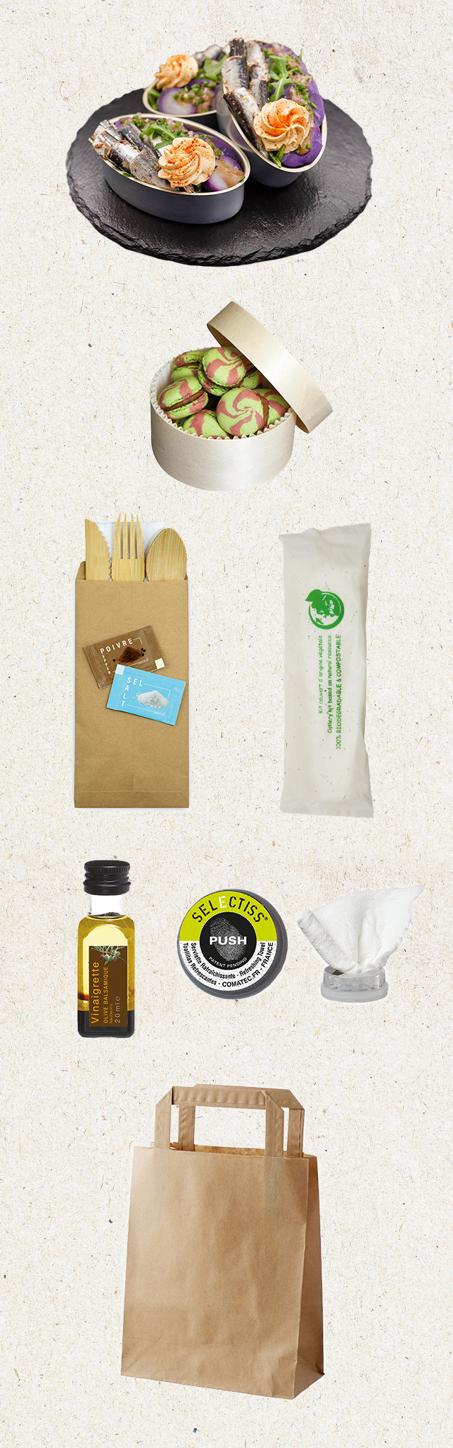 sac, accessoires et petits contenants